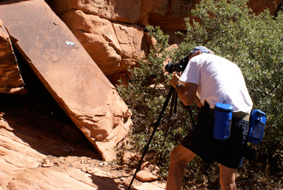 Don Christensen recording rock art